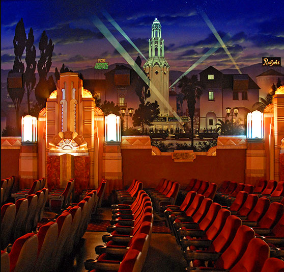 Westwood Majestic Crest Theatre Los Angeles Art Deco Cinema With Murals